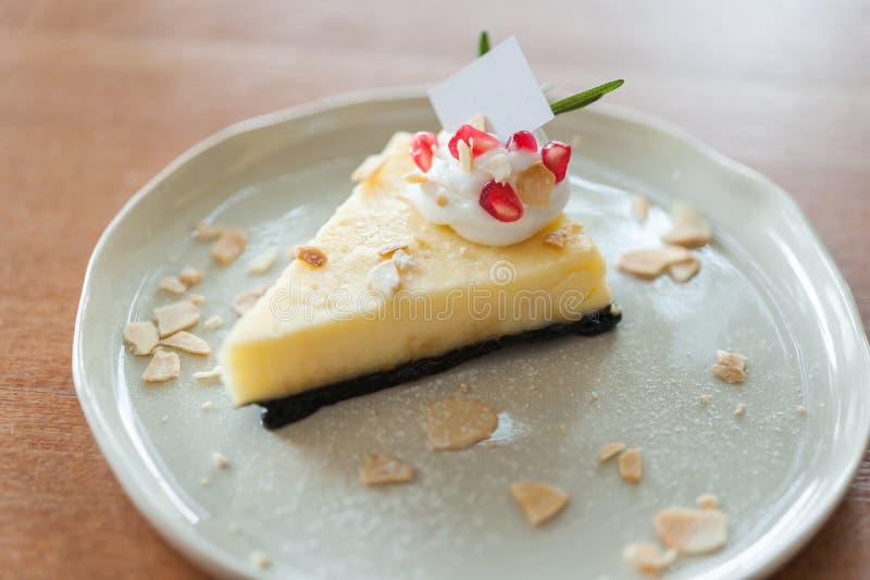 Gâteau au fromage du plat images libres de droits
