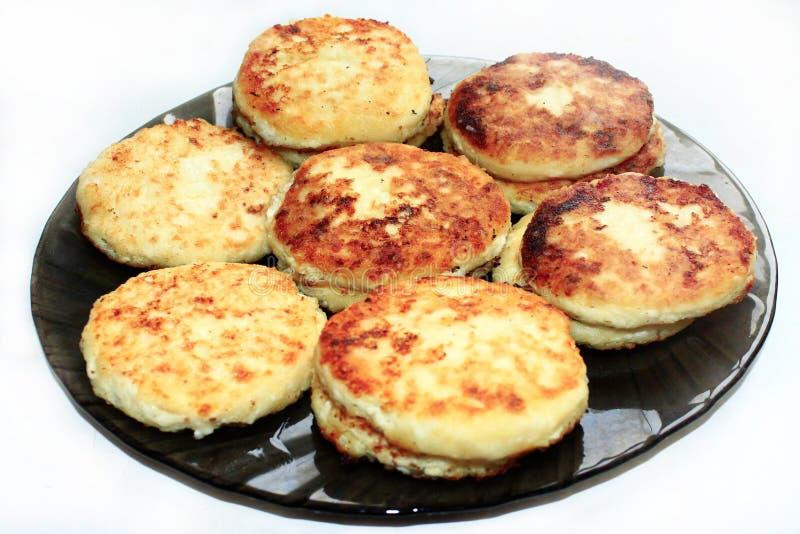 Gâteau au fromage du plat photos stock