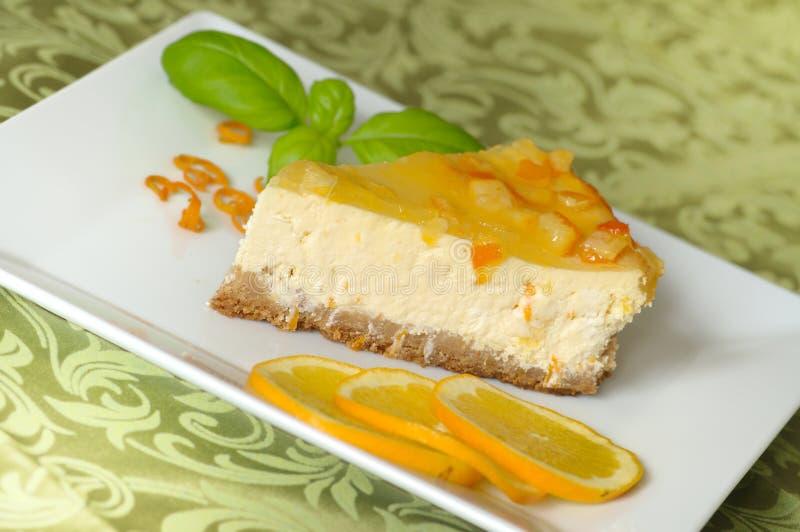 Gâteau au fromage orange photo libre de droits