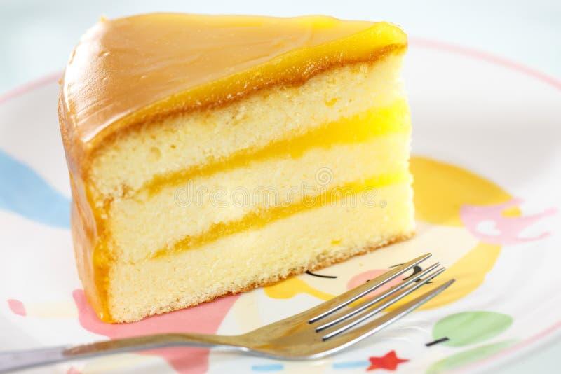 Gâteau au fromage orange photos stock