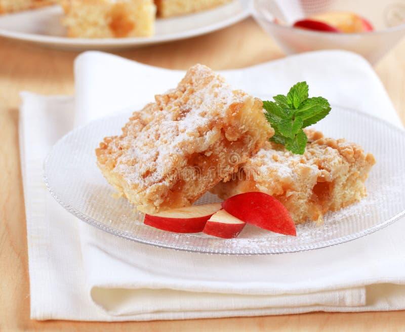 Gâteau aux pommes images libres de droits