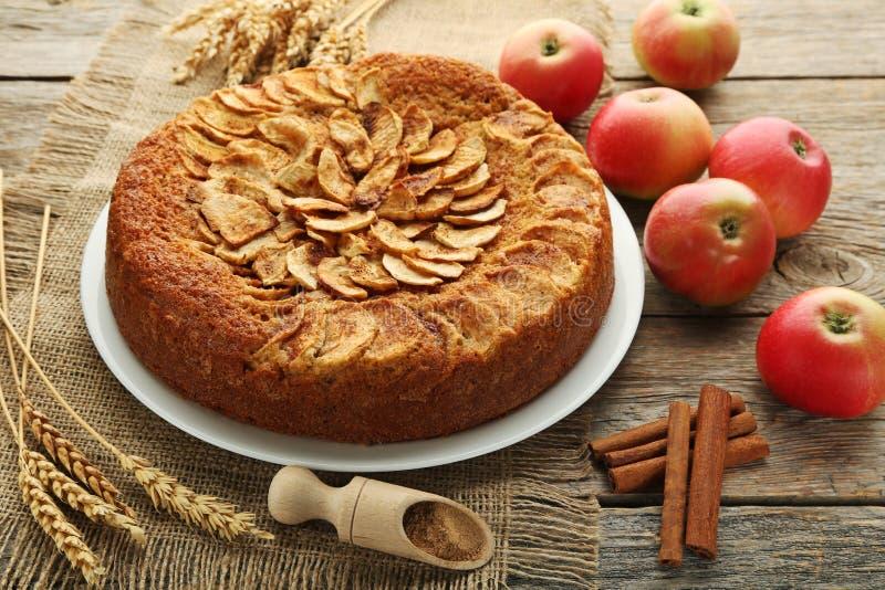 Gâteau aux pommes photo stock