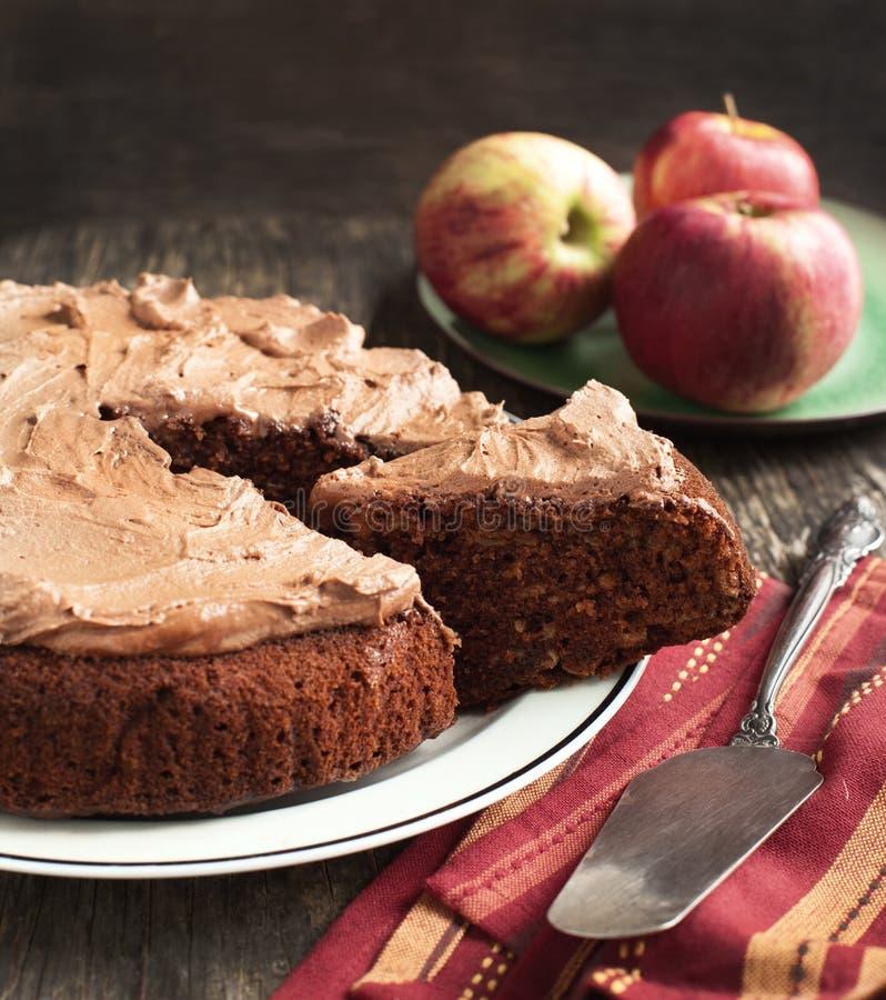 Gâteau aux pommes de chocolat image libre de droits