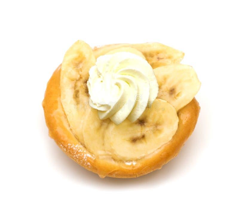 Gâteau avec des bananes photos libres de droits