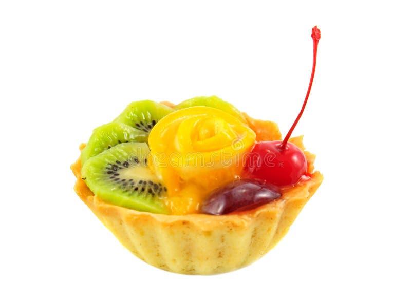 Gâteau avec des fruits image stock