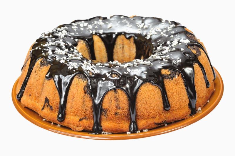 Gâteau avec du chocolat images libres de droits