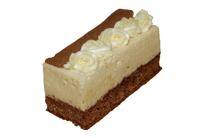 Gâteau avec du chocolat sensible et biscuit et crème classiques images libres de droits