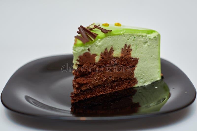 Gâteau avec l'iscuit et la muse image stock
