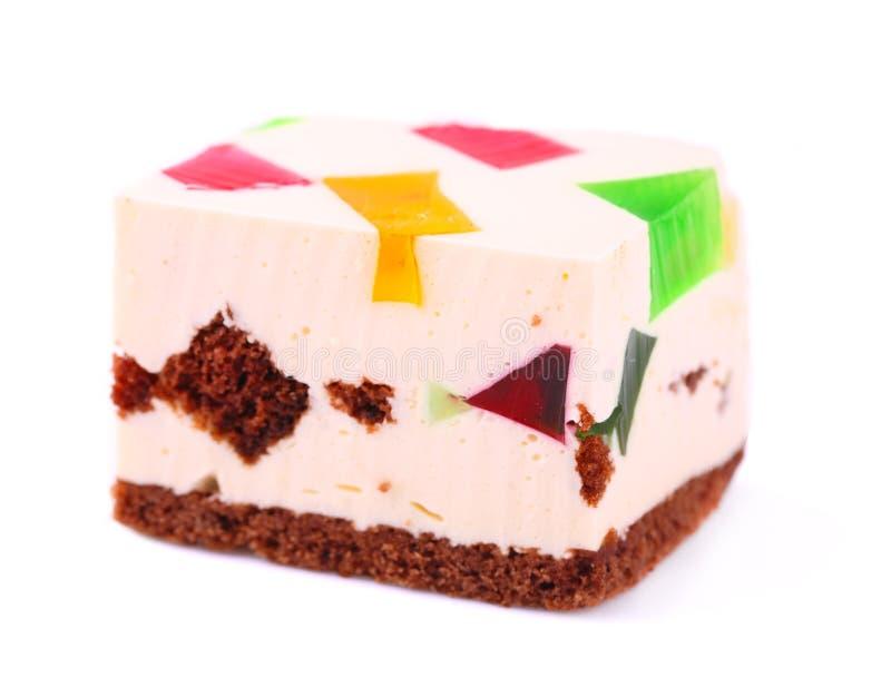 Gâteau avec la gelée images stock