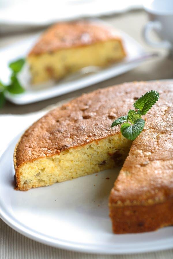 Gâteau avec la menthe photos libres de droits