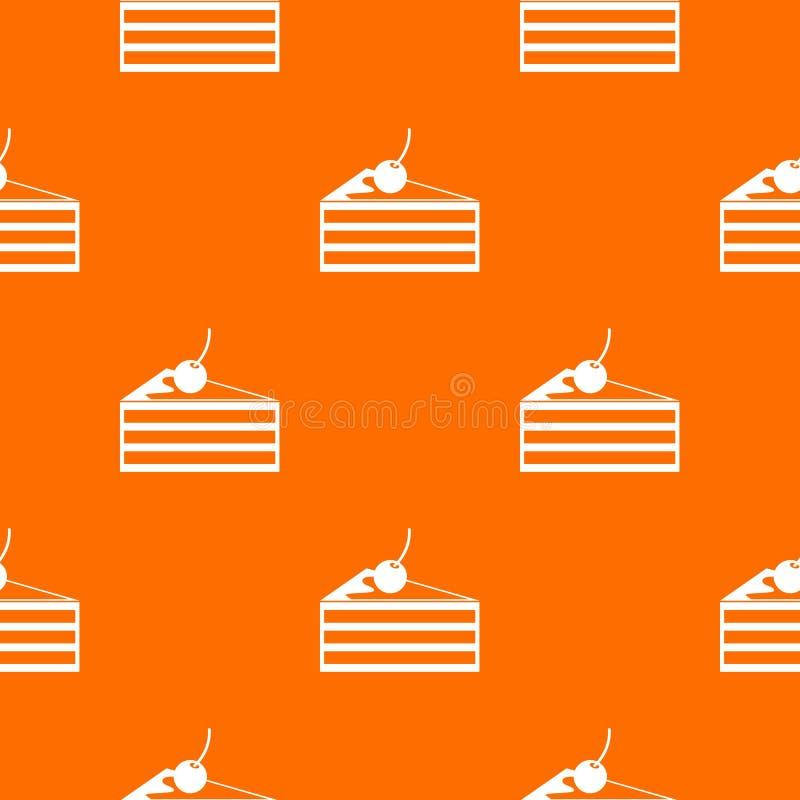 Gâteau avec le modèle de cerises sans couture illustration stock