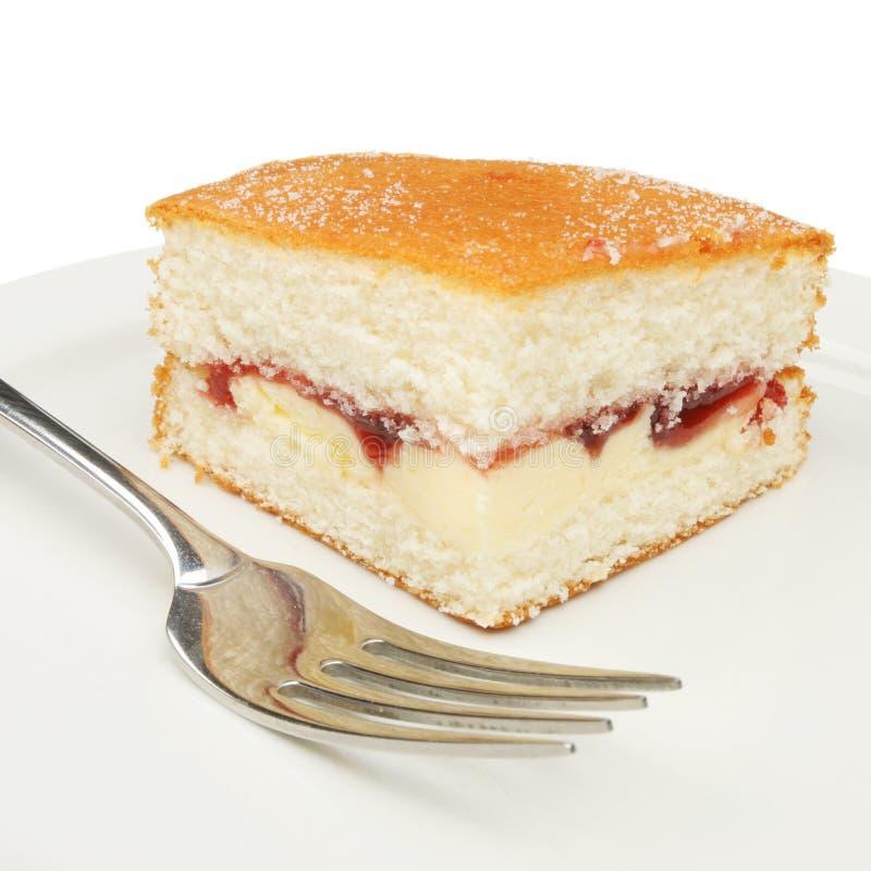 Gâteau avec une fourchette photographie stock libre de droits