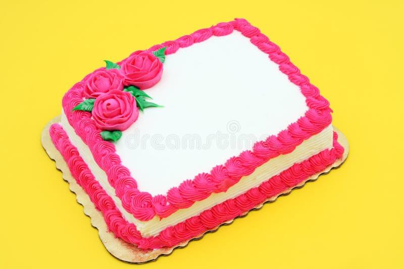 Gâteau blanc de célébration photographie stock libre de droits