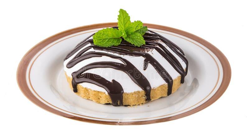 Gâteau - boulangerie avec la crème au chocolat image libre de droits