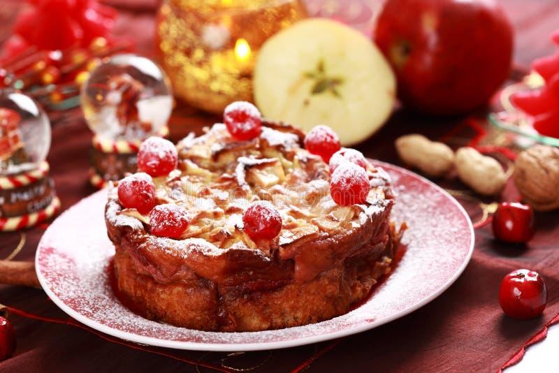 Gâteau Charlotte pour Noël images stock