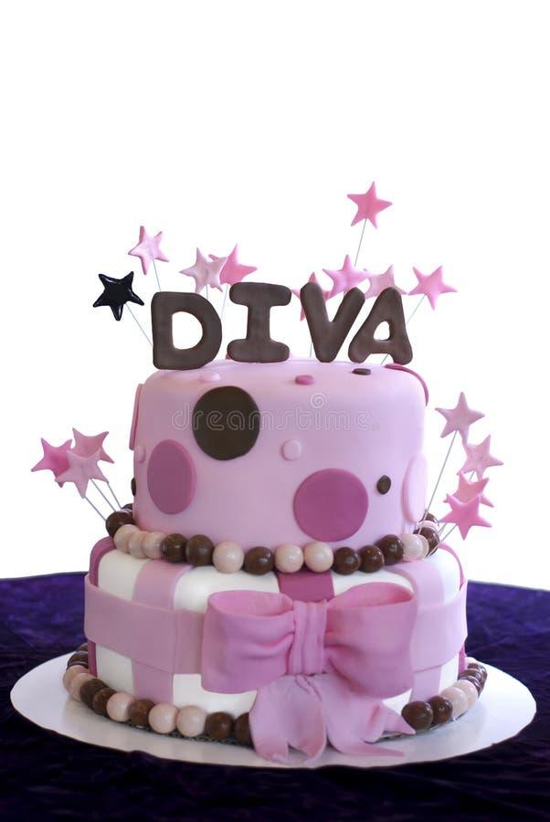 Gâteau couvert par fondant élégant - Shalllow DOF photo stock