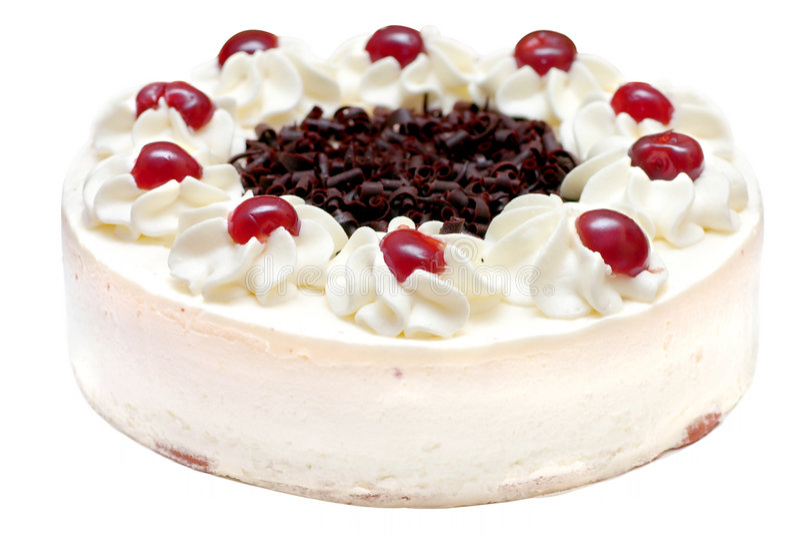 Gâteau crème fouetté images stock