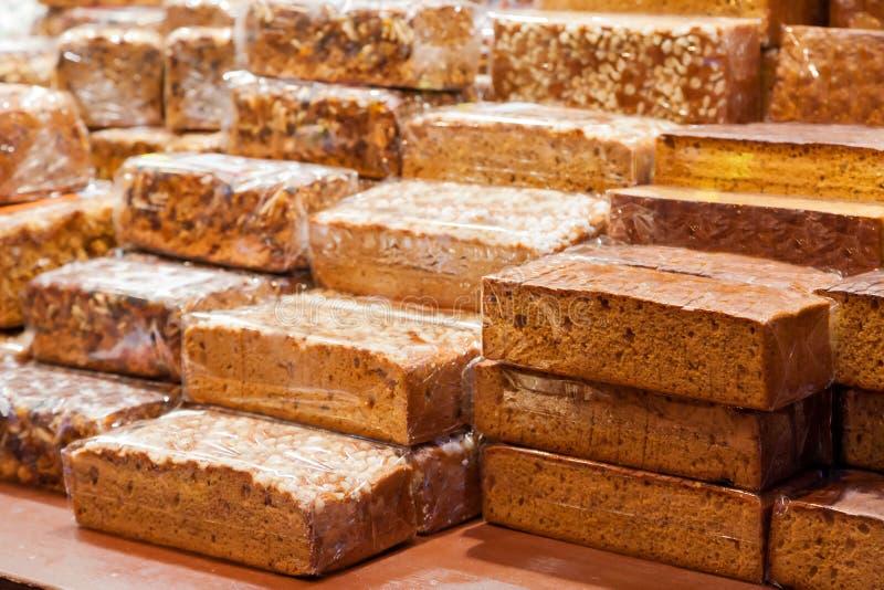 Gâteau cuit au four de pain d'épice photo libre de droits