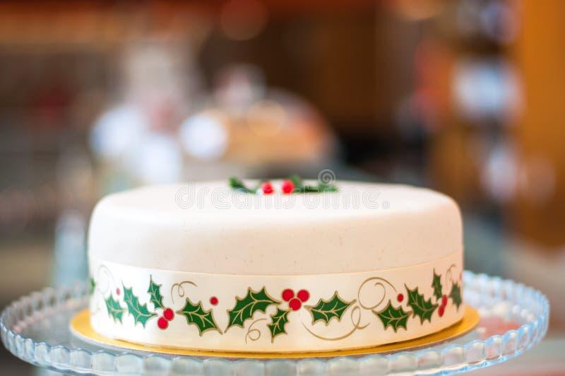 Gâteau cuit au four par blanc de Noël photo libre de droits