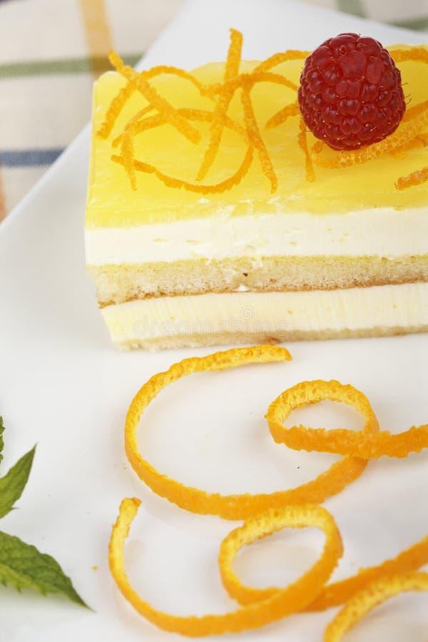 Gâteau délicieux de citron photos stock