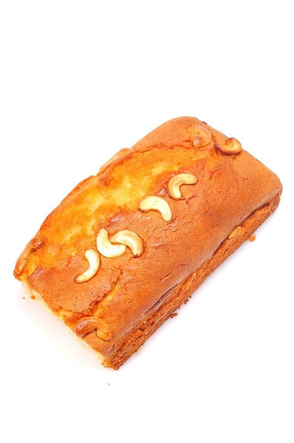 Gâteau délicieux de fruit et de noix image stock