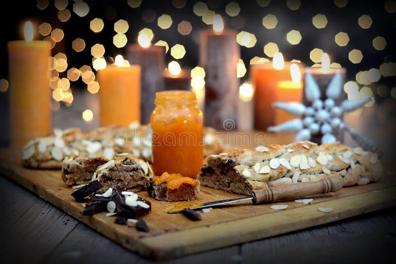 Gâteau délicieux de Noël photographie stock