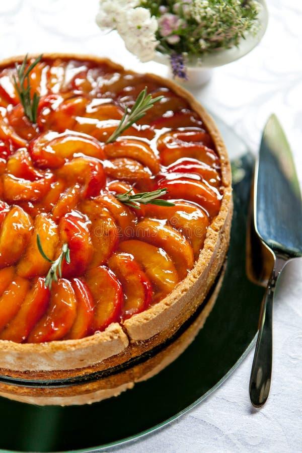 Gâteau d'abricot images stock