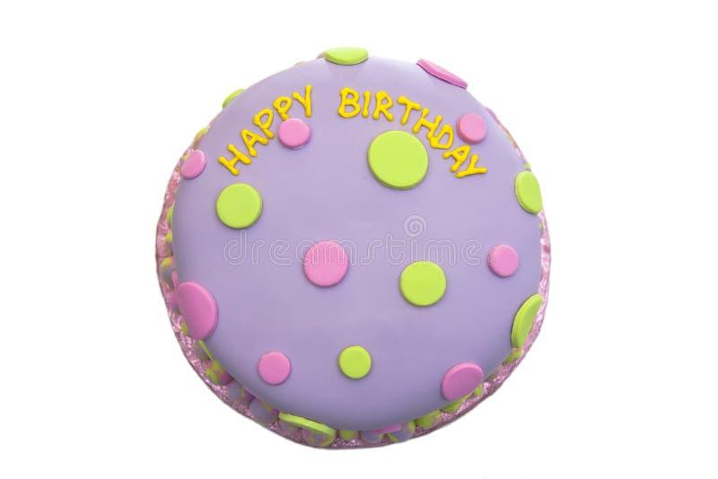 Gâteau d'anniversaire photo stock