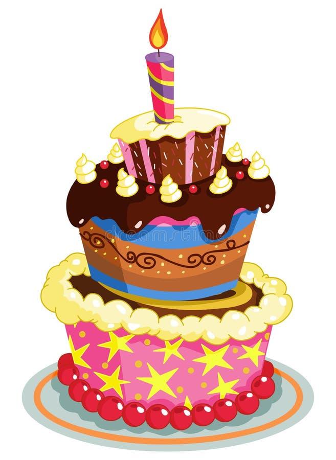 gâteau d'anniversaire illustration de vecteur. image du cartoon