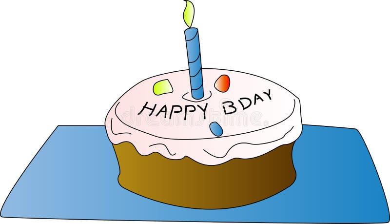 Gâteau d'anniversaire illustration stock