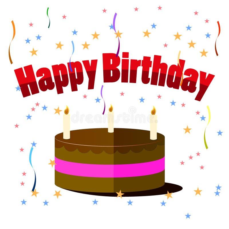 gâteau d'anniversaire avec des bougies d'isolement sur le fond
