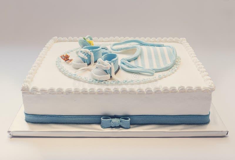 Gâteau d'anniversaire de bébé images libres de droits