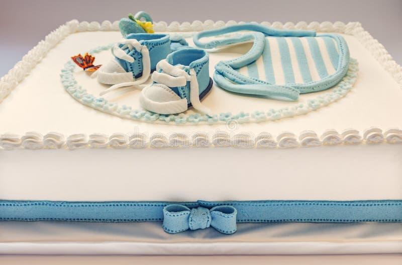 Gâteau d'anniversaire de bébé photo libre de droits