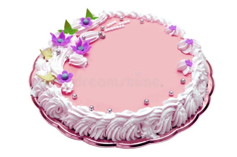 Gâteau d'anniversaire de fille images libres de droits