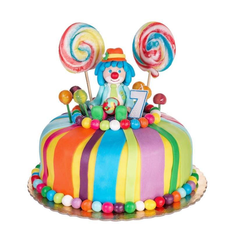 Gâteau d'anniversaire magnifique pour des enfants images libres de droits