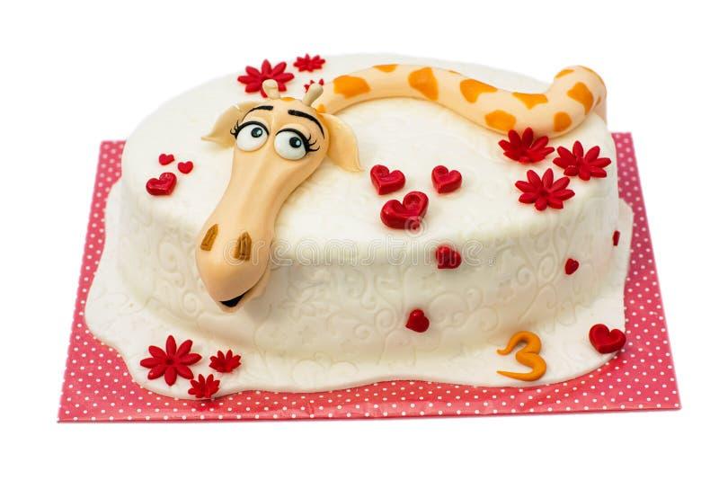 gâteau d'anniversaire sur le fond blanc image stock - image: 33089781