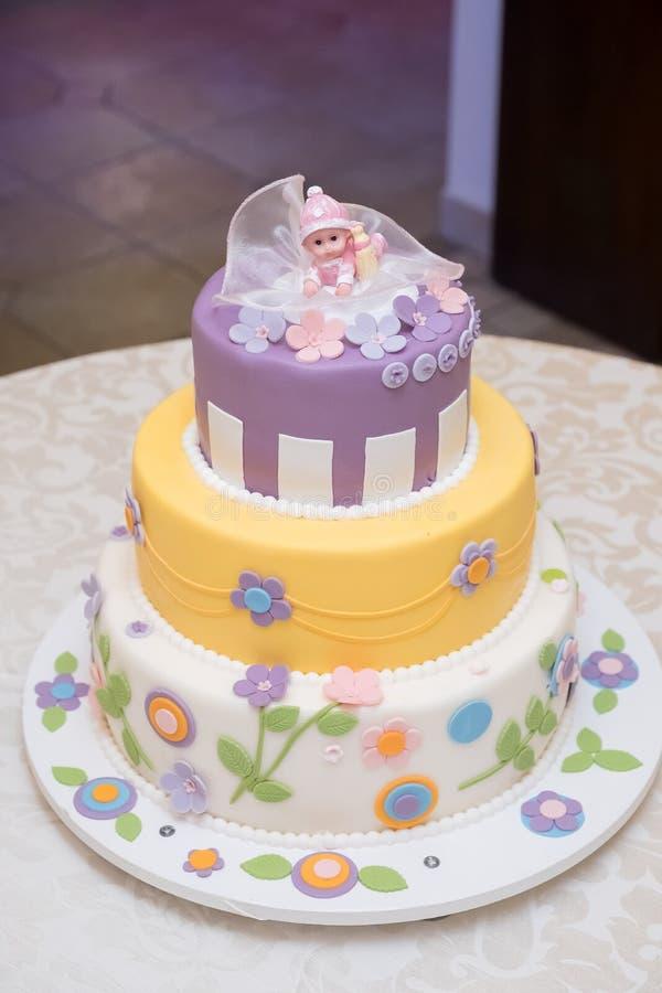Gâteau d'art de bébé images stock