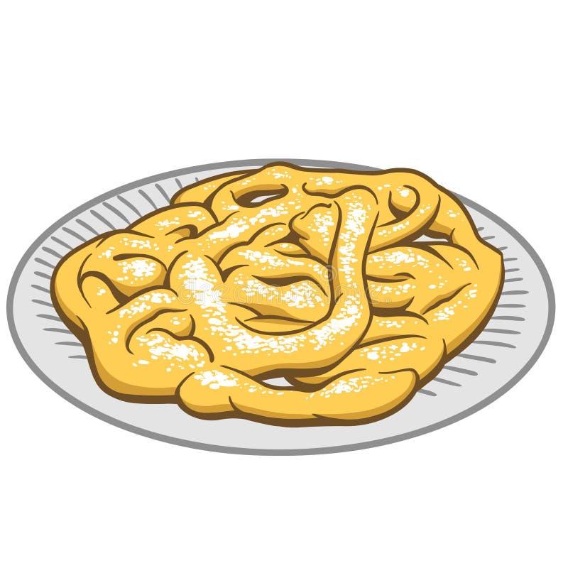 Gâteau d'entonnoir illustration libre de droits