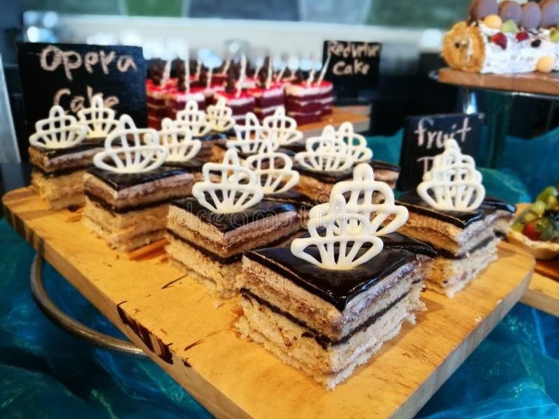 Gâteau d'opéra photo libre de droits