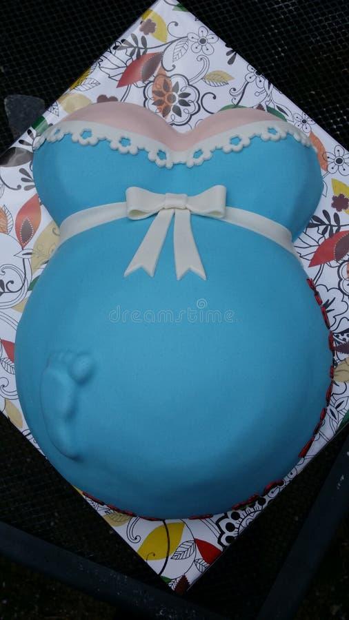 Gâteau de Babybump photographie stock libre de droits
