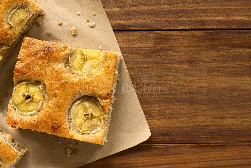 Gâteau de banane images libres de droits