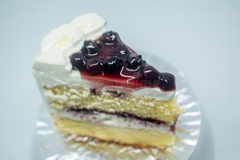 Gâteau de beurre de myrtille, dessert délicieux de toutes les personnes des personnes thaïlandaises photographie stock libre de droits