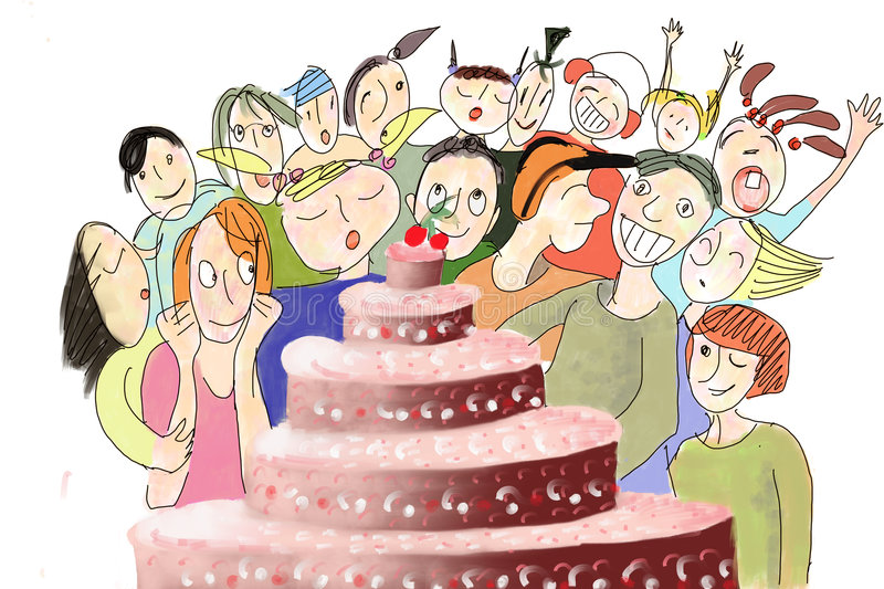 Gâteau de Biirthday illustration stock