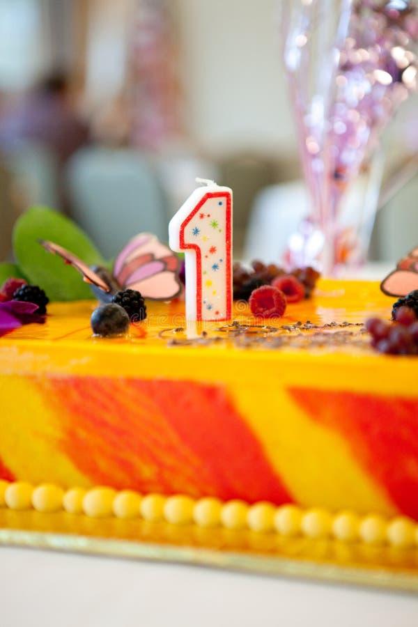 Gâteau de Birhday images libres de droits