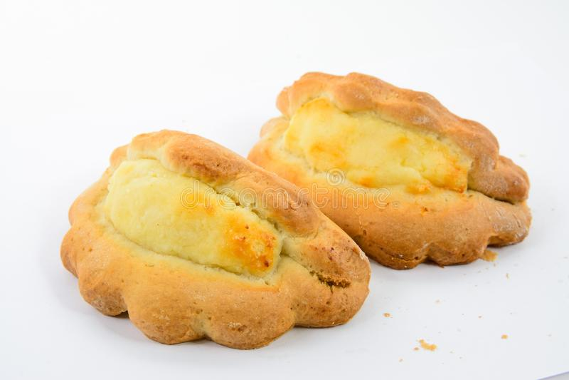 Gâteau de boulangerie de bonbons à lait caillé savoureux photographie stock libre de droits