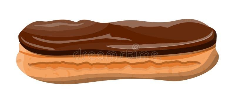 Gâteau de brassage d'Eclair illustration libre de droits