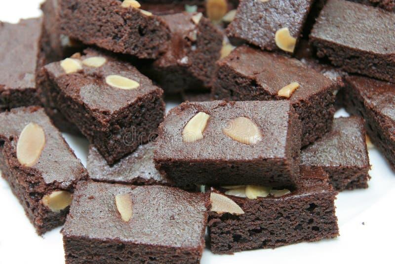 Gâteau de 'brownie' photographie stock