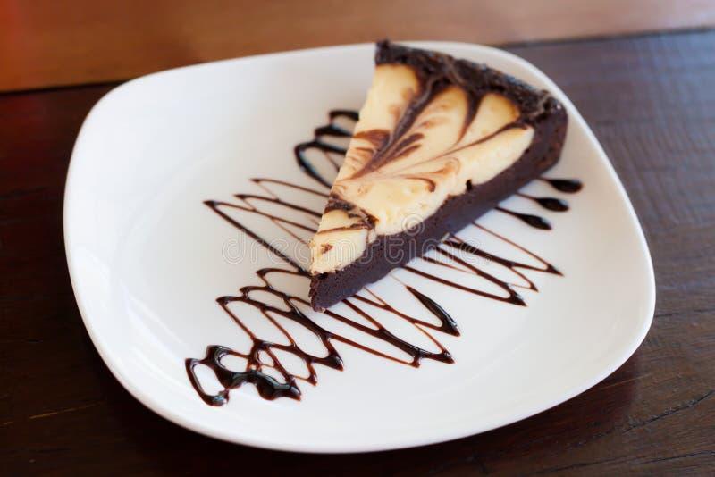 Gâteau de Brownie Cheese photo stock