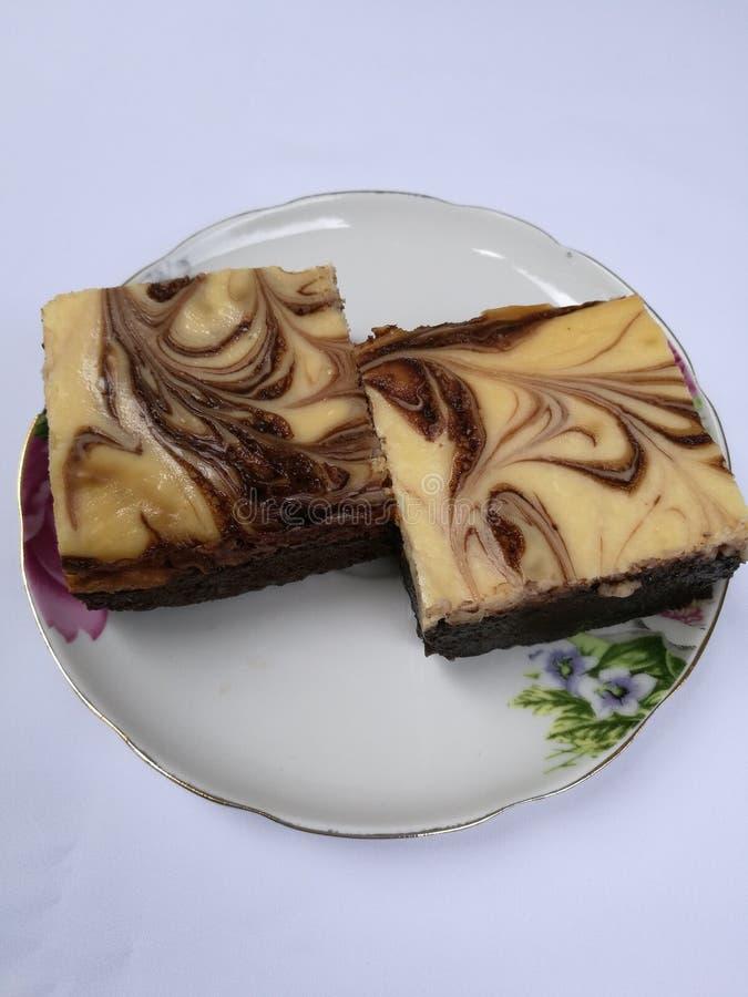Gâteau de Brownie Cheese photos libres de droits
