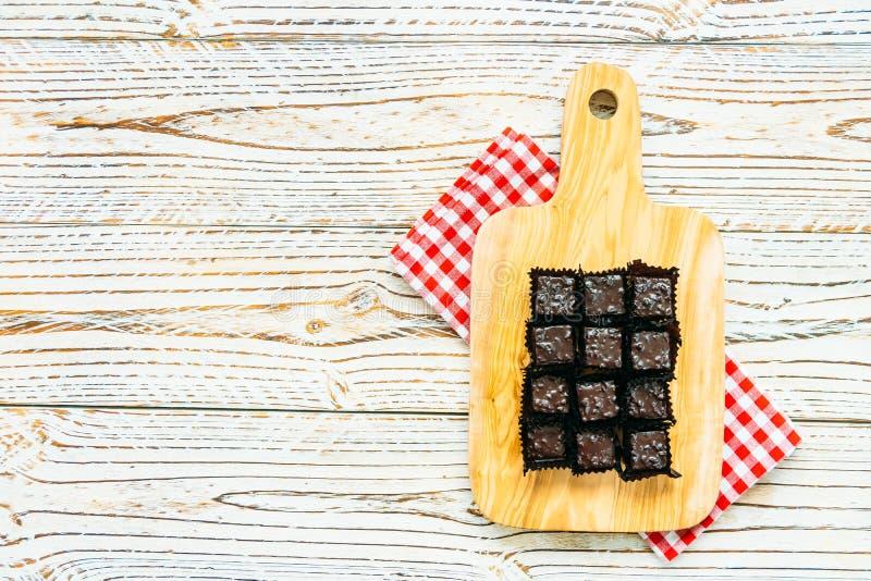Gâteau de 'brownie' de chocolat images libres de droits